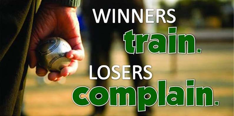 winners train... losers complain